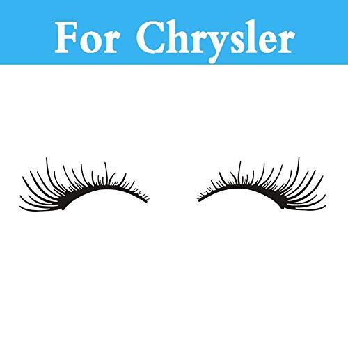 3D Car Charming Black False Eyelashes Sticker for Chrysler PT Cruiser Sebring 300C SRT8 Neon Aspen Crossfire Nassau 200 300C