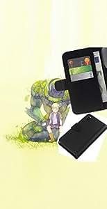 LECELL--Cuero de la tarjeta la carpeta del tirón Smartphone Slots Protección Holder For Sony Xperia Z3 D6603 -- Monster Boy --