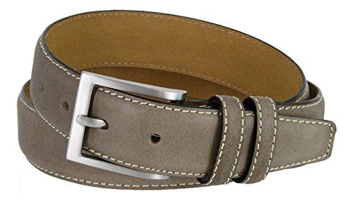 Classic Genuine Leather Office Career Casual Dress Belt (Grey, - Belt Classic Silver