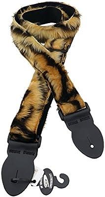 LeatherGraft Fun piel correa para guitarra, estampado de tigre ...