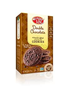 Enjoy Life Crunchy Cookies, Gluten-Free, Dairy-Free, Nut-Free and Soy-Free, Double Chocolate, 6.3 Ounce (Pack of 6)