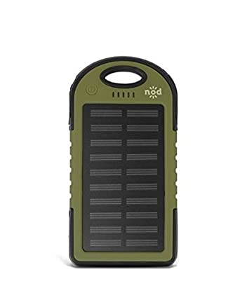 Amazon.com: Cargador solar, multiusos, portátil, 5000 mAh ...