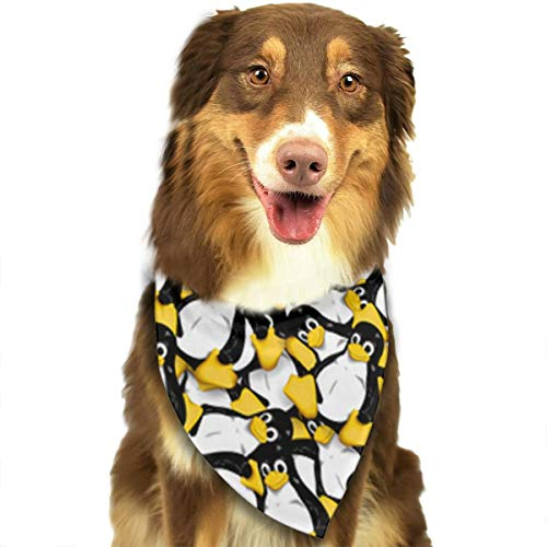 (ZZJIAK Dog Bandana Scarf Tux The Linux Penguin Triangle Bibs Printing Kerchief Set Accessories Dogs Cats)