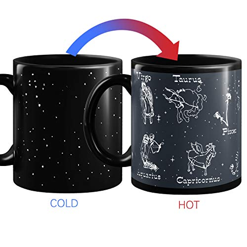 Heat Changing Constellation Mug 12 OZ Sensitive Solar System Coffee Cup System Space Mugs Astronomy Porcelain Tea Cup by SLanC