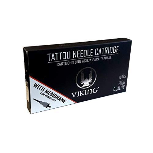 Tattoo Nadeln 11 MAGNUM Packung mit 10 VIKING IKN USA Patronen - Hochwertige sterile Einwegnadeln ORIGINAL!