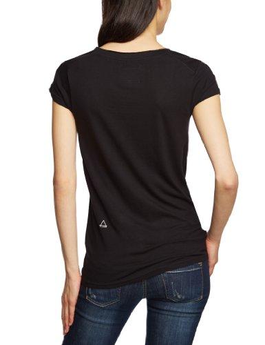 Eleven Paris - Camiseta con cuello de pico de manga corta para mujer Negro (M Black 006)