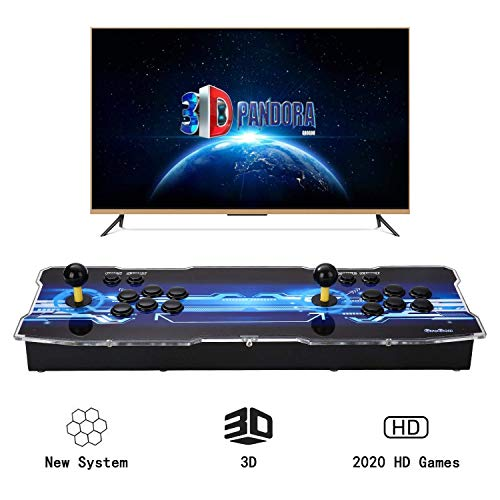 Spmywin 3D Pandoras Box Arcade Video Game Console 1080P Game System 2260 Games Supports 3D Games Smart List Function User Add Games Function Advanced CPU Mini Arcade