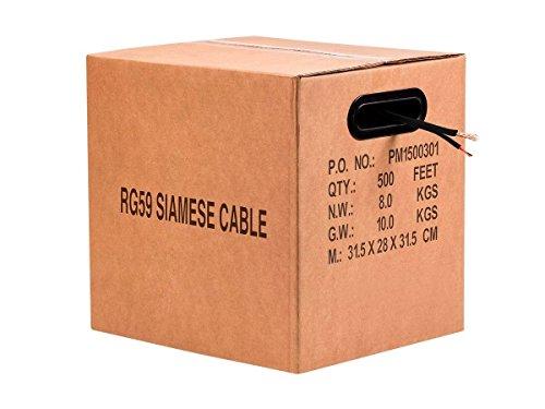 UPC 889028035078, Monoprice 500' Bare Copper RG59 with 2x18AWG Power, Black CM (115407)