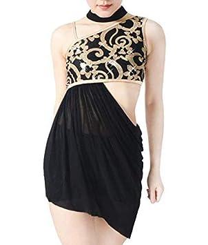 0ff4318838 iiniim Girl 2 Pieces Ballet Dress Side Waist Open Drap Skirt Set Child  Leotard Dance Dress