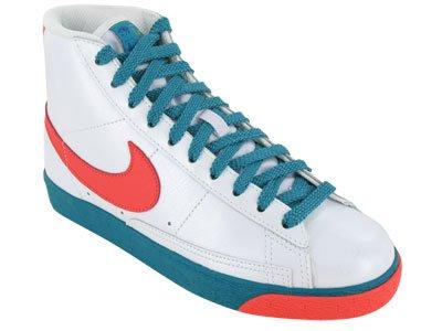 Nike Womens Blazer High White/Red/Emerald Basketball Fashion Sneakers US 9