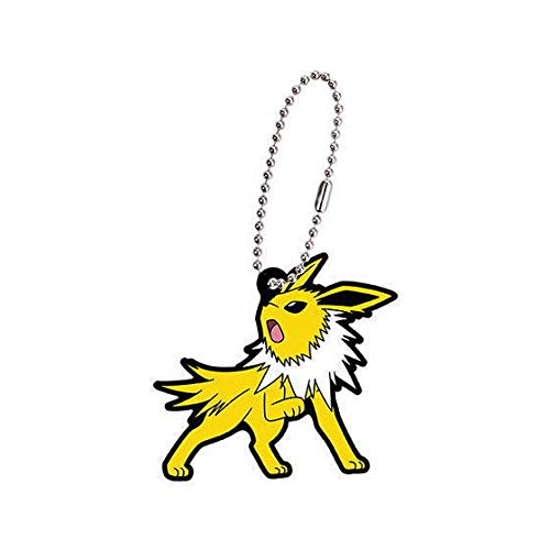 Bandai Pokemon Eevee Evolution Jolteon Thunders Character Gacha Capsule Rubber Key Chain Mascot Collection Anime Art
