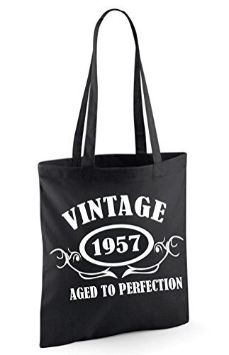 TO VINTAGE Bag Black Bag Tote Sinclair Edward Shoulder 1957 AGED PERFECTION ECwxTHPqC