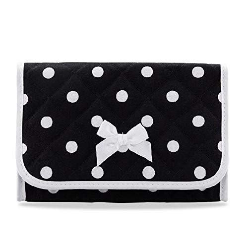 NaRaYa (Black) Polkadot with Mirror Cosmetic Case Bag