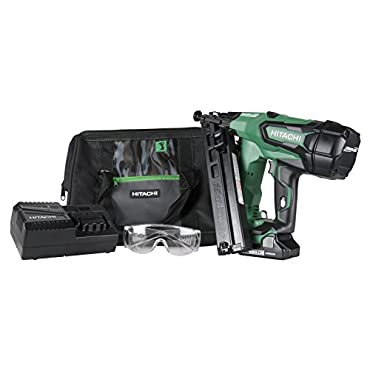 Hitachi NT1865DMA 2-1/2 18-Volt Cordless Lithium Ion Brushless 15 Gauge Angled Finish Nailer with 1 Battery (Lifetime Tool Warranty)