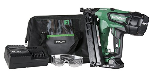 Hitachi Cordless Switch (Hitachi NT1865DMA 18V Cordless Angled Finish Nailer, Brushless Motor, 15 Gauge, 1-1/4 to 2-1/2 Nails, Compact 3.0 Ah Lithium Ion Battery, Zero Ramp-Up Time, Lifetime Tool Warranty)