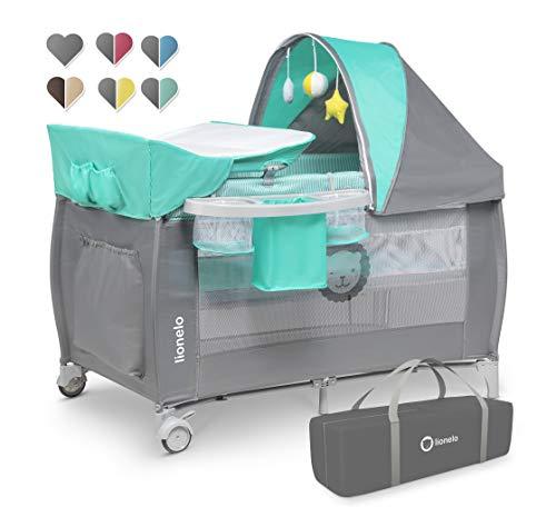 Lionelo Sven Plus 2en1 Cuna de viaje y parque de bebés 125 x 65 x 77 cm 0-36M Para niños hasta 15 kg Función de…