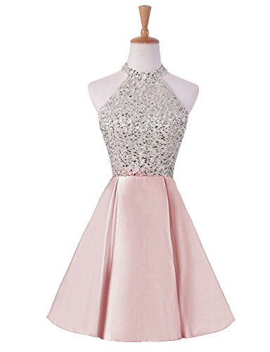 3e26f7f28a6d Home/Brands/HEIMO Dresses/HEIMO Women's Sequins Keyhole Back Homecoming  Dresses Beading Prom Gowns Short H201 0 Pink. ; 