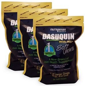 3PACK Dasuquin Soft Chews for Large Dogs with MSM (252 Chews)