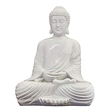 Stone Garden Meditating Sitting  Lotus Buddha Ornament