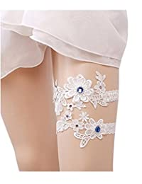 Xugq66 2PCS Wedding Bridal Lace Garter Set Tradition Vintage Bridal Garter