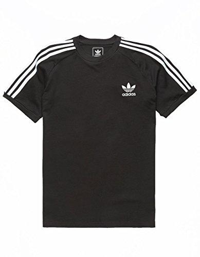 adidas Originals Boys' Big California Tee, Black/White, L by adidas Originals