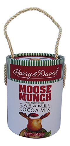 Harry & David Moose Munch Caramel Hot Chocolate Cocoa Mix in Decorative Round Gift Box, 13 Ounces