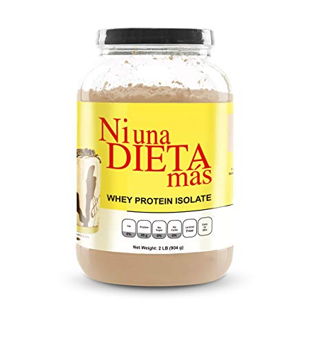 NI UNA DIETA MAS – Whey Protein Isolate Delicious Chocolate No Sugar, No Lactose, Easy to Mix