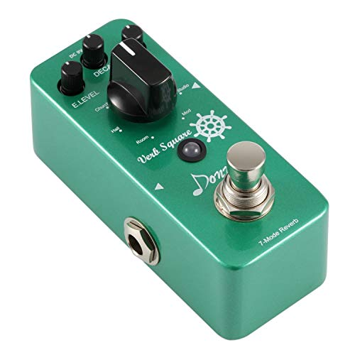 - Donner Digital Reverb Guitar Effect Pedal Verb Square 7 Modes
