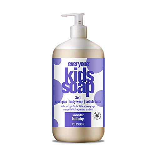 - Everyone 3-in-1 Soap for Every Kid Safe, Gentle and Natural Shampoo, Body Wash, and Bubble Bath, Lavender Lullaby