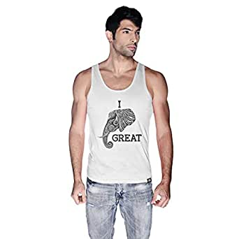 Creo Tank Top For Men - S, White