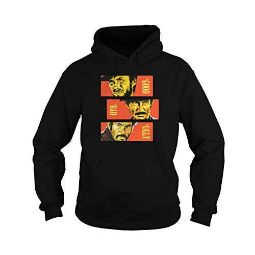 Zinko Unisex The Good, The Bad and The Ugly Pullover Hoodie (XL, Black) -