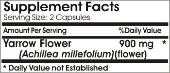 Yarrow Flower 900mg * 200 Capsules 100 % Natural - by EarhNaturalSupplements
