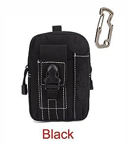 Travel Money Belt Waist Bag with D Carabiner Spring Hook Bottle Opener Running Hikingng Sporting by Ontrip
