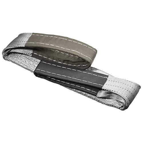 uxcell リフトストラップ 幅98 mm 全長3 M 建設リギング用 ポリエステル繊維材質 グレー