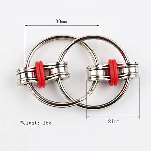 Hemore Jouet métal éducatif Jouet métal Jouet avec chaîne de décompression Rouge 1 Paquet Décoration d'halloween Fête Noël 120c17