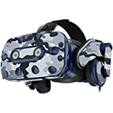 MightySkins Skin for HTC Vive Pro VR Headset - Gray Camouflage | Protective, Durable, and Unique Vinyl Decal wrap Cover | Easy to Apply, Remove, and Change Styles | Made in The USA