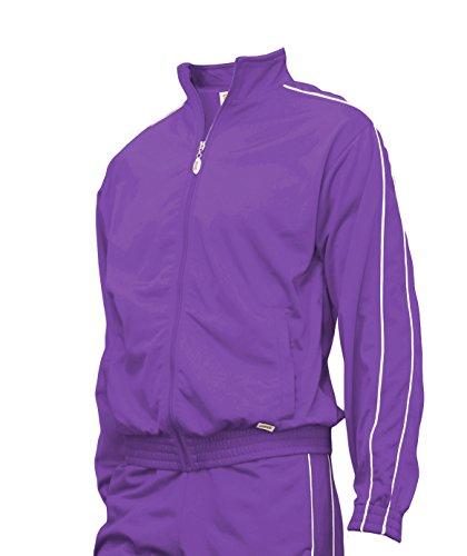 Soffe Youth Warm-Up Jacket, Purple, Large