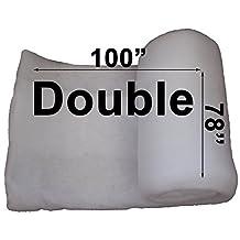 "Cotton Quilt Batting (Alternative) 78"" x 100"" (Double) - Polyester Fiber"