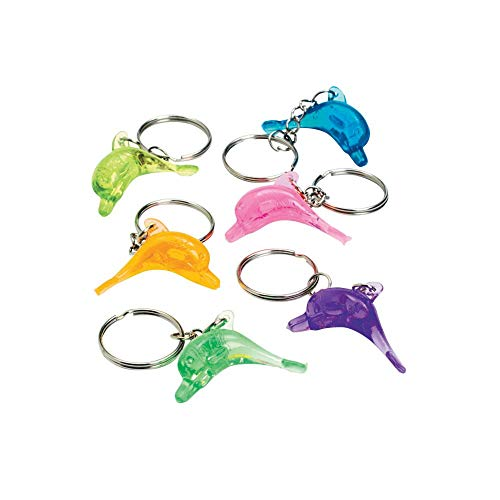 Fun Express Oriental Trading Company Plastic Dolphin Key Chains (48 Piece) Toy