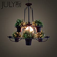 Quietness @ Modern LED Chandelier Creative Industries Loft Hanging Lamp For Dining Room Bedroom Living Room Warehouse Flower pot rack hanging lamp - does not follow the pot