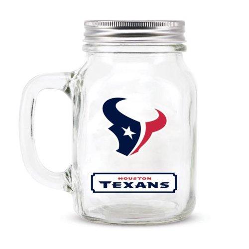 NFL Houston Texans Glass Mason Jar with - Glasses Houston