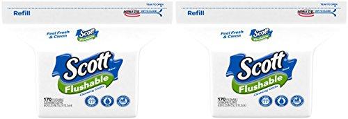 Scott Moist Wipes Refill (170 Wipes) - 2 Pack