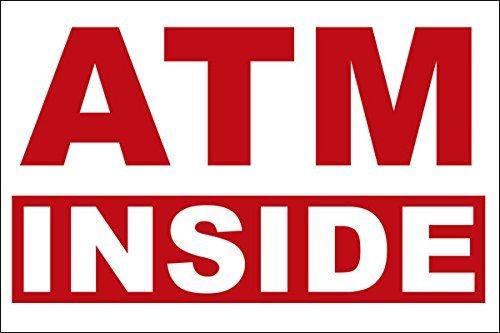 ATM Inside - Store Business Sticker (Window Decal)