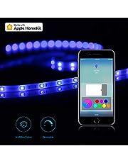 Wifi Striscia di luce Koogeek Wireless Smart striscia di luce LED compatibile con Apple HomeKit Google Alexa 6.6FT/2m Controllo Remoto Timer 2.4 GHz Natale