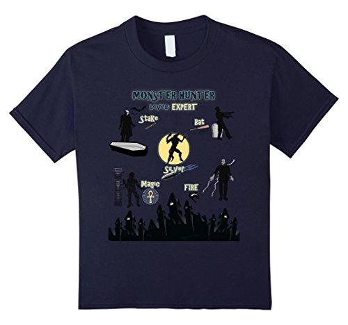 Kids Monster Hunter Level: Expert Cool Halloween Party T Shirt 12 (Costumes Halloween Party Expert)