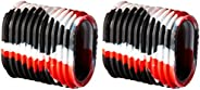 Reel Grip 1145 Reel Handle Cover, Black and Red Tie Dye Finish