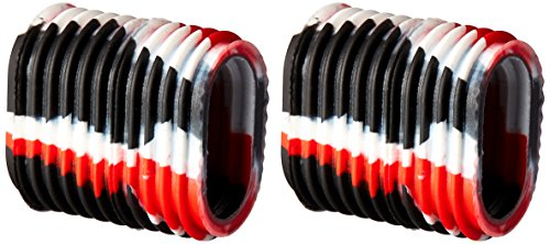 Reel Grip 1145 Reel Handle Cover, Black and Red Tie Dye Finish (Fishing Reel Handle Grips)