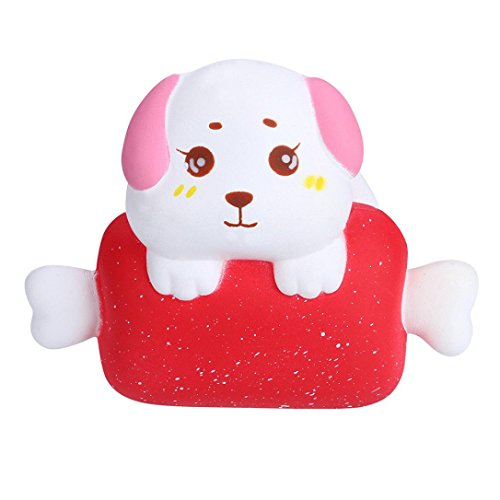 Body Phone Mobile Collection Charm - Makeupstore 1PC Kawaii Jumbo Greedy Puppy Stress Reliever Charm Toys, Cellphone Straps Slow Rising Collection Squeeze Small Decor Gift for Children ,cute phone Pendant