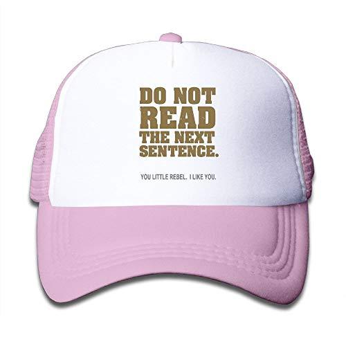 Kid's Boys Girls Do Not Read The Next Sentence Youth Mesh Baseball Cap Summer Adjustable Trucker Hat by NO4LRM (Image #6)
