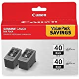 Canon 0615B013 PG-40 Black Twin Pack